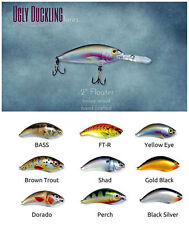 Lot of 9 Ugly Duckling Walleye Lure, all different, bass, muskie, New in Box