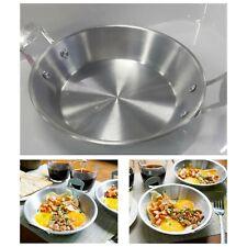 2x Egg Frying Pan Small Fry Khai Krata Thai Breakfast Aluminum Round Food