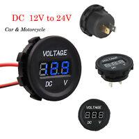 Mini DC 12V-24V Motorcycle LED Light Panel Digital Voltmeter Display Monitoring