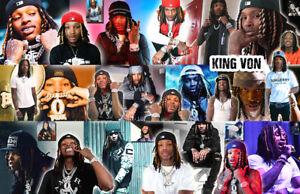 KING VON Collage Poster