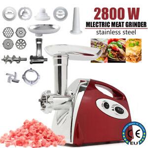 Electric Meat Grinder Mincer Sausage Maker Filler Kitchen Mincing Machine 2800W