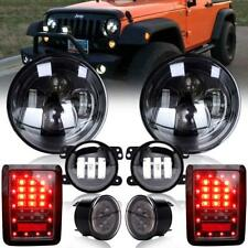 7'' LED Headlight w/ Fog Turn Signal Lamp +Tail Light for Jeep Wrangler JK 07-17