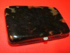 New listing Vintage Brown Plastic Cigarette Case-Look !