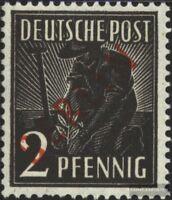 Berlin (West) 21 gestempelt 1949 Rotaufdruck