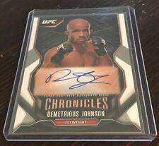 Demetrious Johnson 2015 Chronicles UFC Men's MMA Autograph Auto Signature Card