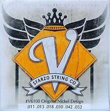 Sfarzo V-6100 Vintage Electric Guitar Strings 11-52 original nickel design