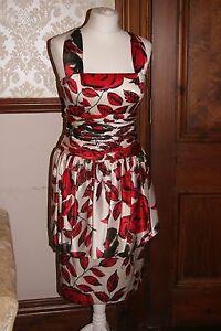 Michel Ambers Designer Silk Roses Dress Party Mother Bride NWOT UK 10 US 6 £329
