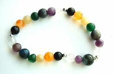 Beautiful Crystal Elasticated 7 Chakra Stone Power Bracelet - Energy Balance