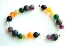 Beautiful Crystal Elasticated 7 Chakra Stone Power Bracelet - Energy Balance