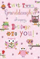 Twit Twoo Granddaughter Happy Birthday To You Card - 8.25 x 5.5 Inches