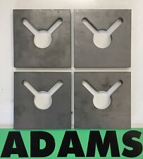 4x Weld-In Chain Anchor Plates, Two Eared Cargo Restraint Plate For 8-10mm Chain