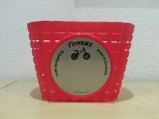 NEU: Fahrrad-Korb . Lenkerkorb f. Kinder-Fahrrad oder Laufrad . rot . Kunststoff