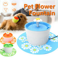 1.6L Flower Automatic Electronic Pet Cat Dog Water Drinking Fountain Bowl  z