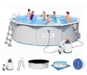 Bestway 56384 Hydrium 460x120 Pool Stahlwandpool Schwimmbecken Sandfilterpumpe