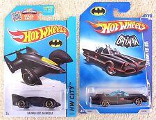 2 Hot Wheels '66 TV Batmobile & Batman Live! Batmobile 65 / 250 HW City NEW