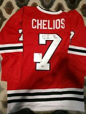 Chris Chelios Autographed Pro Style Black Jersey JSA Authenticated