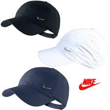 NIKE Basecap METAL SWOOSH Cap Hut verstellbare Kappe Mütze weiss blau schwarz