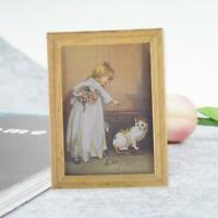 1:12 Dollhouse Miniature Framed Wall Painting Picture Room Decor Home U7T5