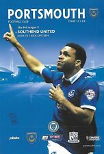 Football Programme>PORTSMOUTH v CRAWLEY TOWN Jan 2016