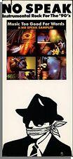 Music Too Good For Words: A No Speak Sampler (1988) - New, Original Long Box!