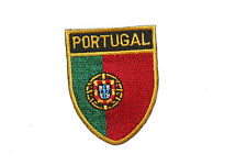 PORTUGAL COUNTRY FLAG OVAL SHIELD FLAG EMBROIDERED IRON-ON PATCH CREST BADGE