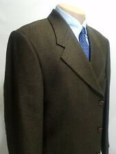 J. ANTHONY LTD MENS SPORT COAT BROWN HERRINGBONE 44R 3-BUTTON SLOVENIA 100% WOOL