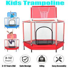5FT Kids Trampoline With Safety Net Enclosure Children Outdoor Garden Fun Toy
