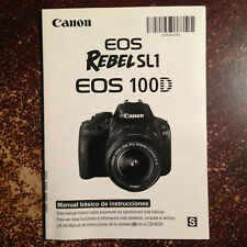 *SPANISH* Canon SL1 EOS Rebel SL1 User Manual.  MINT CONDITION. FREE SHIPPING !