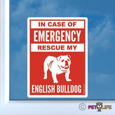 In Case of Emergency Rescue My English Bulldog Sticker Die Cut - #2 british