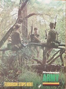 Genuine Original  Rhodesian Army Recruitment Poster/Sign (on cardboard) 71x53cm