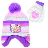 Paw Patrol Girls Winter Hat & Mittens Set Gloves Toddler Size New