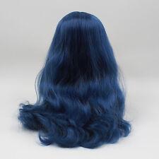 Blythe Doll RBL Scalp & Dome Dark Blue Hair With Bangs R025