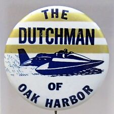 1967 THE DUTCHMAN horizontal TOP stripes Hydroplane pinback button STRAIGHT PIN