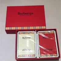 Burberry Deck of Playing Cards Set of 2 with Box