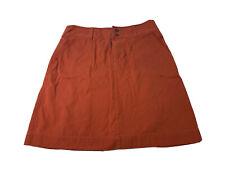 Ibex Womens Size 10 Rust Orange Organic Cotton Above Knee A Line Skirt Guc