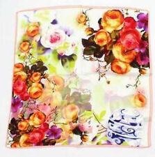 "20"" Square Small 100% Silk Scarf Women Bandana Shawl Wraps Floral red SX79001"