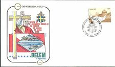 BRESIL ENVELOPPE PAPE JEAN PAUL II VISITE Belem 1980 / POPE JOHN PAUL II Brazil