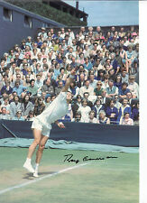 Roy emerson signé autographe en personne 12x8 photo action shot