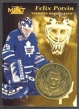 1997 PINNACLE MINT With COIN CARD FLIX POTVIN TORONTO MAPLE LEAFS NM Card