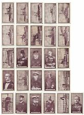Gallaher cigarette cards 1914 British Naval Series Royal Navy RN ships admirals