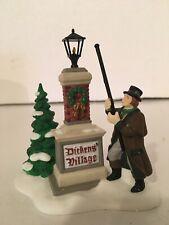 """Dept.56 Heritage Village Coll. Dickens' Village Sign """"Ye Olde Lamplighter"""" Fig"""
