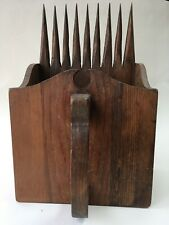 Vintage WOOD BERRY PICKER SCOOP TOOL FarmHouse Chic Decor Box Cottage Country