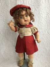 """VINTAGE Baby Marilyn Doll 17"""" COMPOSITION  RELIABLE Toy Co. Canada Orig. Label"""