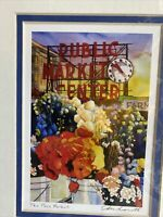 Pike Place Market Print Signed By Artist Michael Eberhardt Matted Print 10x8