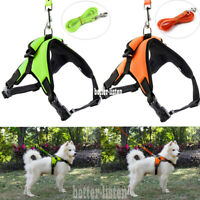 No Pull Pet Dog Cat Puppy Vest Harness Leash Soft Walk Collar Safety Strap S~XL