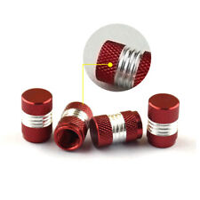 4X Red Anodized Aluminum Tire/Wheel Air Pressure Valve Stem Caps Car Accessory S
