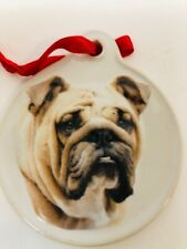 Xpres Bull Dog Christmas Tree Ornaments Decorations 3 inches