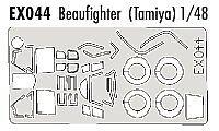 Eduard 1/48 Beaufighter Mk.VI/Mk.X paint mask for Tamiya kit # EX044
