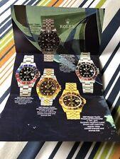 Rolex Pubblicità Anni 80, GMT Master 16710, 16713, 16718 Oyster Jubilee