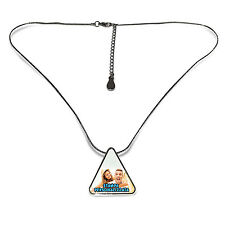 NECKLACE WITH PENDANT IN TRIANGLE PRINT PERSONALIZED CUSTOMIZED PHOTO ULTRA